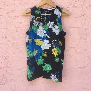 Violet + Claire Sheer Floral Sleeveless Blouse